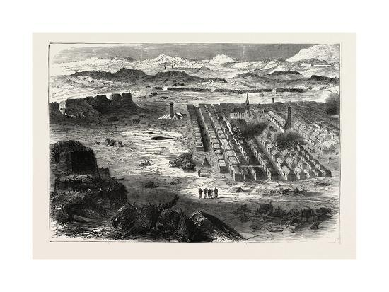 Franco-Prussian War: View of the Camp Pe Conlie Near Mans 1870--Giclee Print