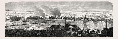 Franco-Prussian War: View of the Plane at Le Bourget on 23 December 1870. from Left to Right: Dugny--Giclee Print