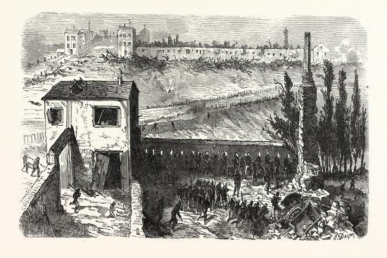 Franco-Prussian War: View of the Soap Factory in Le Bourget During their Occupation 11-3 Clock in t--Giclee Print