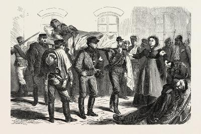 Franco-Prussian War: Wounded Soldiers the Station of Sarrebruck, 1870--Giclee Print