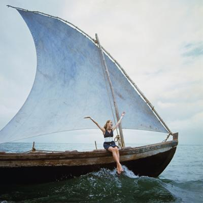 Vogue - January 1968 - Boating Veruschka by Franco Rubartelli