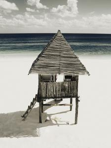 Lifeguard Station on Beach by Franco Vogt