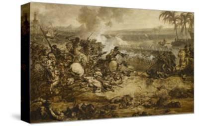 La bataille des Pyramides (21 Juillet 1798) ; esquisse