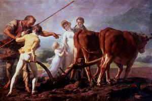 The Ploughing Lesson, 1798 by Francois-Andre Vincent