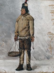 An Eskimo by Francois Auguste Biard