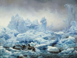 Fishing for Walrus in the Arctic Ocean, 1841 by Francois Auguste Biard