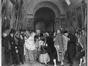 Four O'Clock, known also as Closing of the Annual Salon of Painting Partly Installed Then in the… by Francois Auguste Biard