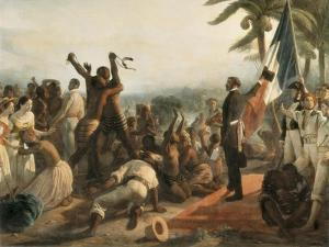 The Abolition of Slavery by Francois Auguste Biard
