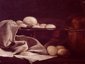Still Life Showing Brie Cheese by Francois Bonvin