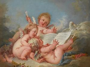 Allegory of Music, 1752 by Francois Boucher
