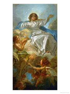Assumption of the Virgin, Sketch for the Altarpiece in St. Sulpice, Paris by Francois Boucher