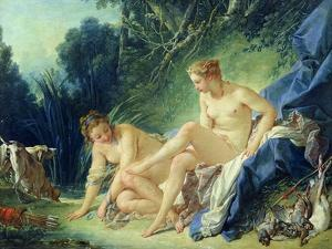 Diana Getting out of Her Bath, 1742 by Francois Boucher