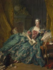 Portrait of Madame De Pompadour, 1756 by Francois Boucher