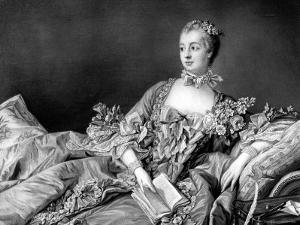 Portrait of Marquise de Pompadour, Mistress to King Louis XV by Francois Boucher