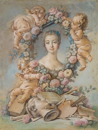 Portrait of the Marquise De Pompadour (1721-176), 1754