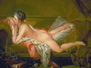Resting Girl (Louise O'Murphy), 1752 by François Boucher