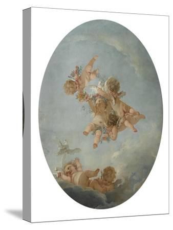 Salle du Conseil : Les Quatre saisons, le Printemps Plafond