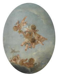 Salle du Conseil : Les Quatre saisons, le Printemps Plafond by Francois Boucher