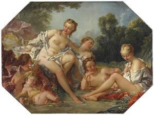 Venus in her Bath surrounded by Nymphs and Cupids, c.1740-50 by Francois Boucher
