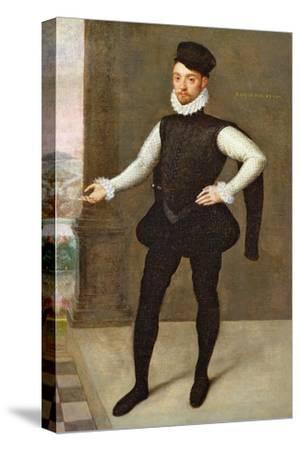 Full Length Portrait of a Gentleman in a Black Doublet