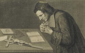 François de Pâris, diacre de Saint-Médard, en prière
