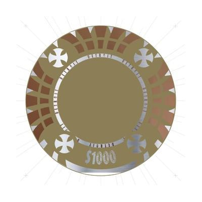 Pokerchip $1000, 2015 by Francois Domain
