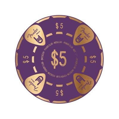 Pokerchip $5, 2015 by Francois Domain