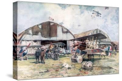 French Fighter Squadron Aerodrome, 1918