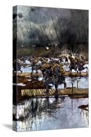 French Lst Infantry Corps Crossing of the Yser Canal, World War I, 4.45 Am, 31 July 1917