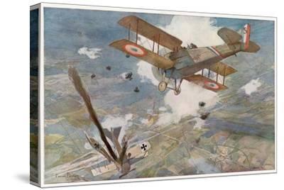 "French ""Spad"" Shoots Down a German Plane"