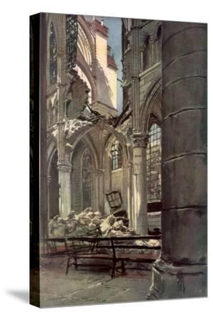 Interior of the Ruins of Saint Jean Des Vignes Abbey, Soissons, France, 18 May 1915