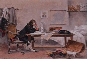 Napoleon at Auxonne by Francois Flameng