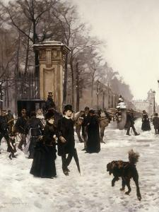 Promenade on a Winter Day, Brussels by Francois Gailliard