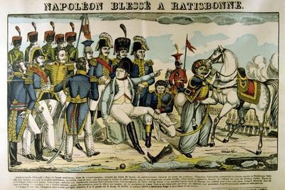Napoleon Injured at Ratisbon, April 1809