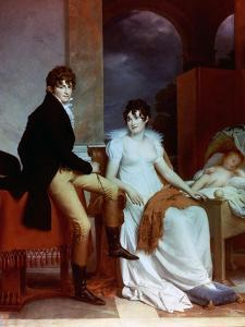 Count Moritz Christian Fries And Countess Fries And Their Child, 1804 by Francois Gerard