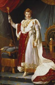 Napoleon Bonaparte in Coronation Regalia. Copy by Francois Gerard