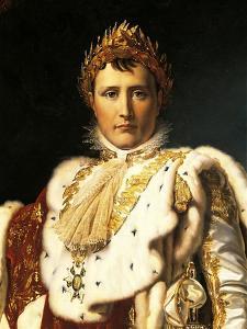 Napoleon Bonaparte in Emperor's Rodes by Francois Gerard