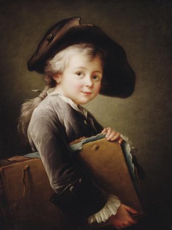 A Young Boy Holding a Portfolio, 1760