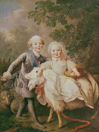 Charles of France (1757-1836) Count of Artois and His Sister, Clothide (1759-1802) 1763-64