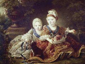 French Kings to Be: Louis XVI and Louis XVIII as Babies by Francois Hubert Drouais
