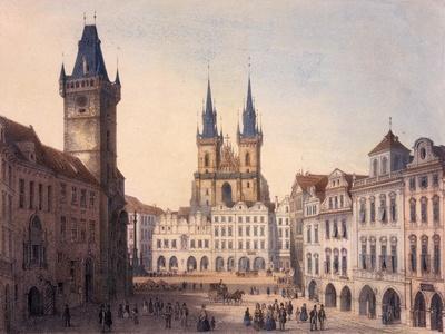 Old Town Square, Prague, C.1840