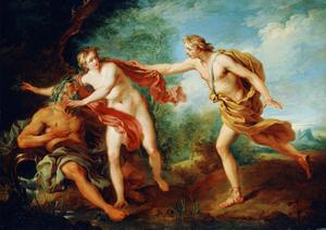 Apollo and Daphne, 18th Century by Francois Lemoyne