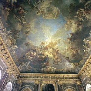 Ceiling of the Salon de Hercules at Versailles, 18th century by Francois Lemoyne