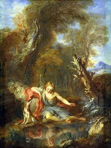 Narcissus, 1728 by Francois Lemoyne