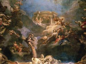 The Apotheosis of Hercules, Ceiling of Hercules Salon, Decorated 1710 by Francois Lemoyne