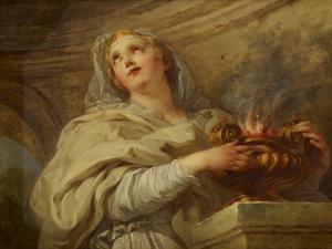 Vestal Virgin, C.1730 by Francois Lemoyne