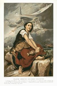 Joan of Arc, the Maid of Orleans, 15th Century French Patriot and Martyr, Mid 19th Century by Francois Leon Benouville
