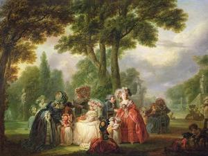 A Meeting in the Park by Francois Louis Joseph Watteau