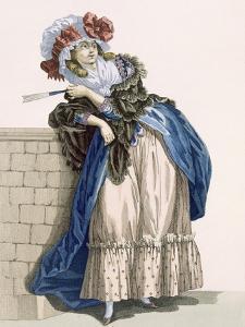 L'Amiable Cephise, Engraved by Dupin, Plate No.205 from 'Galeries Des Modes Et Costumes Francais' by Francois Louis Joseph Watteau