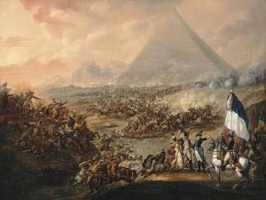 La Bataille des Pyramides (21 juillet 1798) by François Louis Joseph Watteau